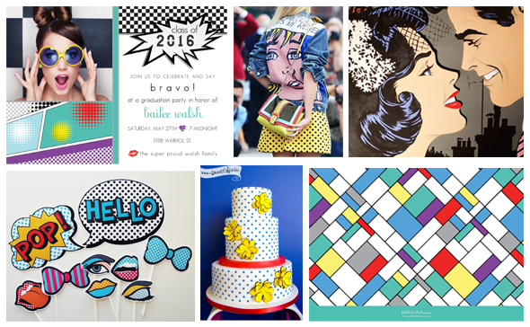 Pop Art Party Ideas @ Polka Dot Design