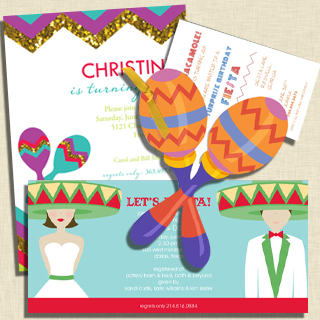 Fiesta Party Invitations