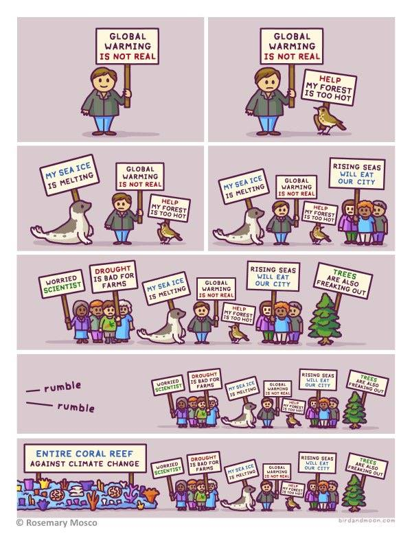 Cartoon: waar doen we dit allemaal voor?