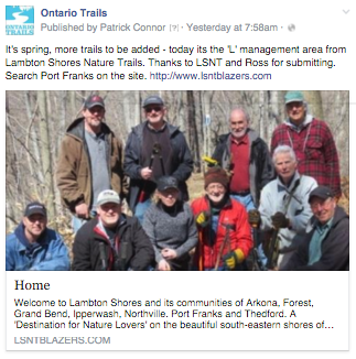 lambton shores nature trails