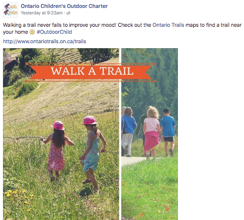 ontario children's charter supports ontario trails