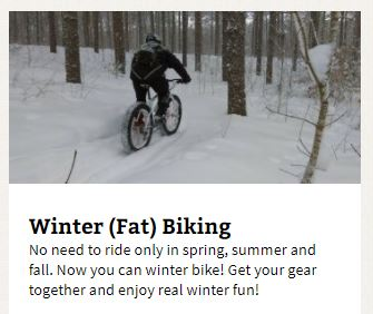 ontario trails winter fat biking trails