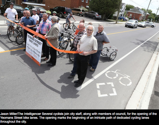 belleville cycling lanes