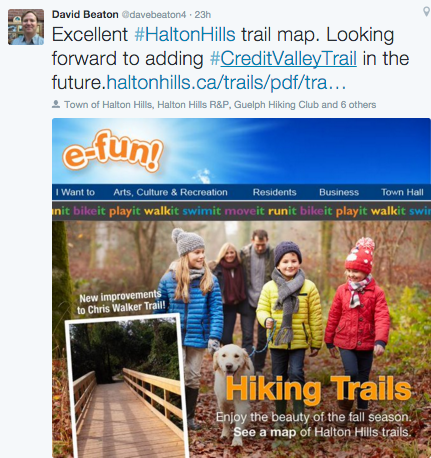 Halton Trails Map from David Beaton