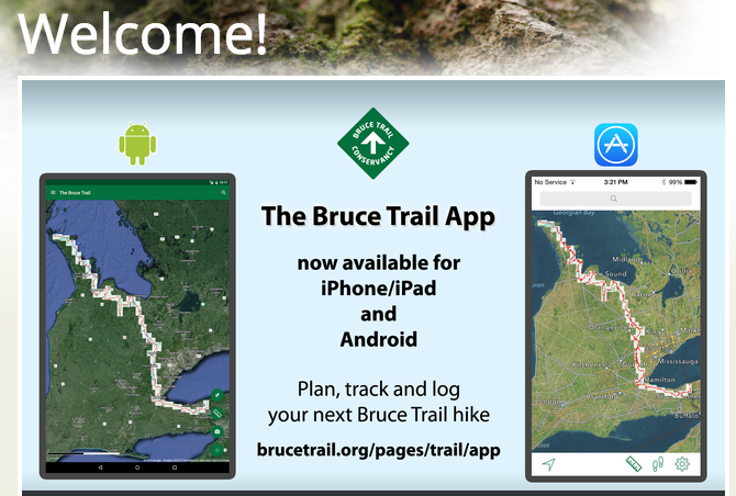 bruce trail conservancy map app for mobile