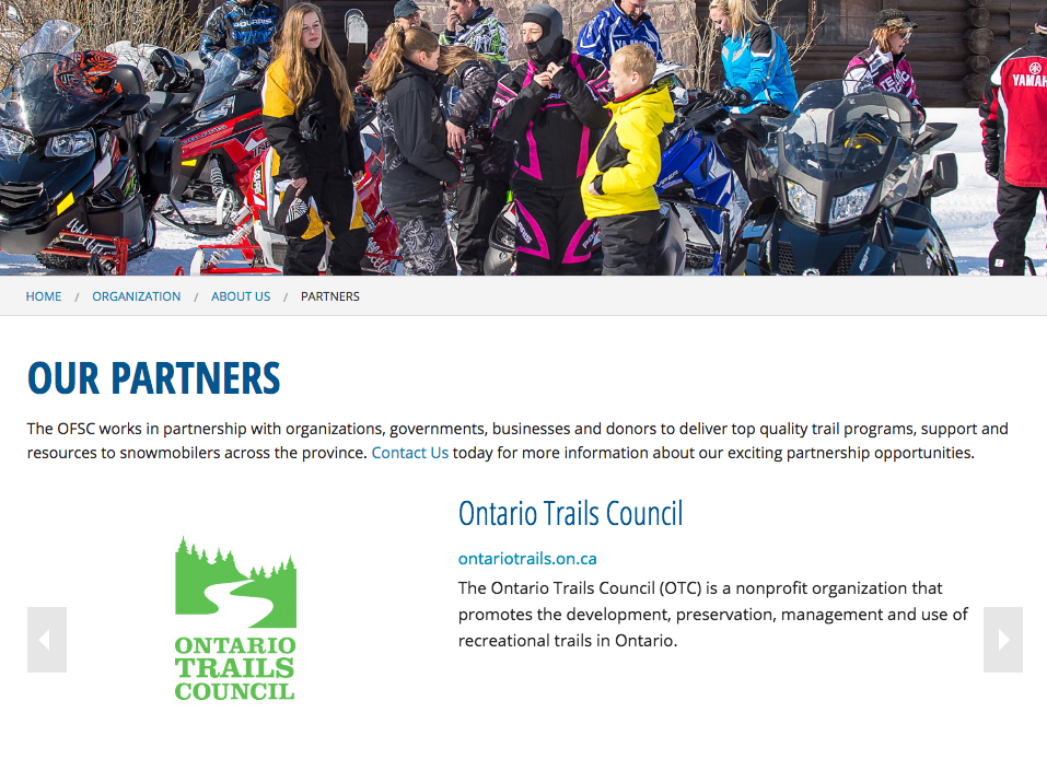 ofsc ontario trails partner
