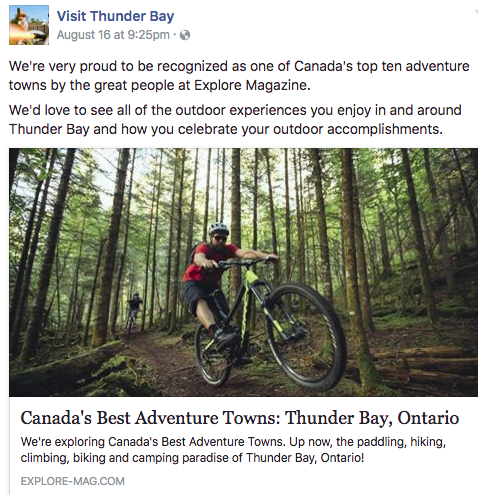 thiunder bay profiled in explore mag