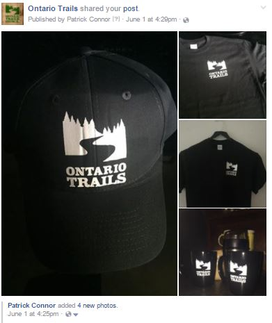 ontario trails council books, maps, hats and tees