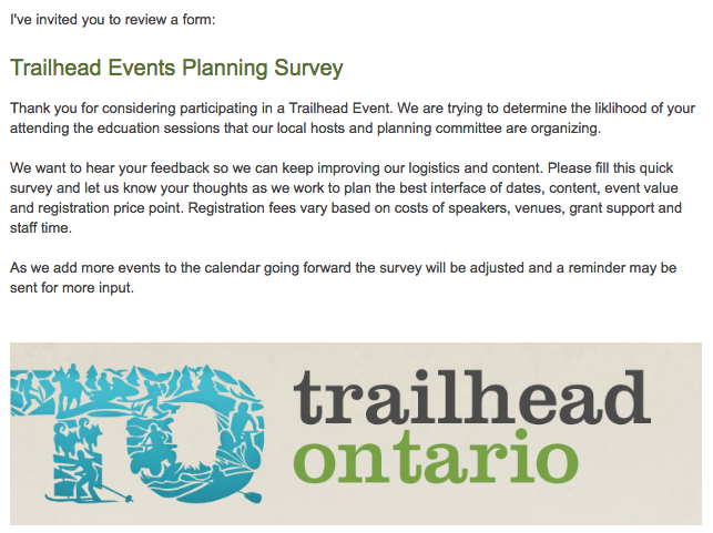 trailheadontario event survey