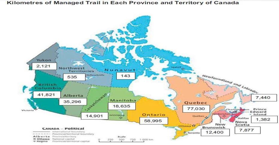 total trail count in canada national trails coalition 2010