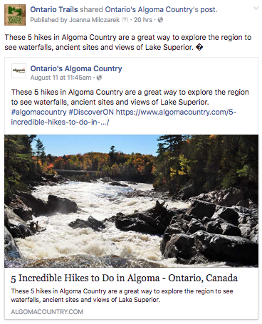 5 great hikes in algoma country