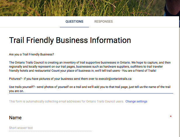 trail friendly business directory