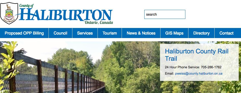 haliburton county rail trail