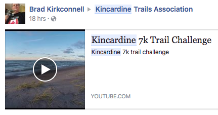 kincardine trails run