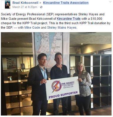 koincardine trails association funding announcement