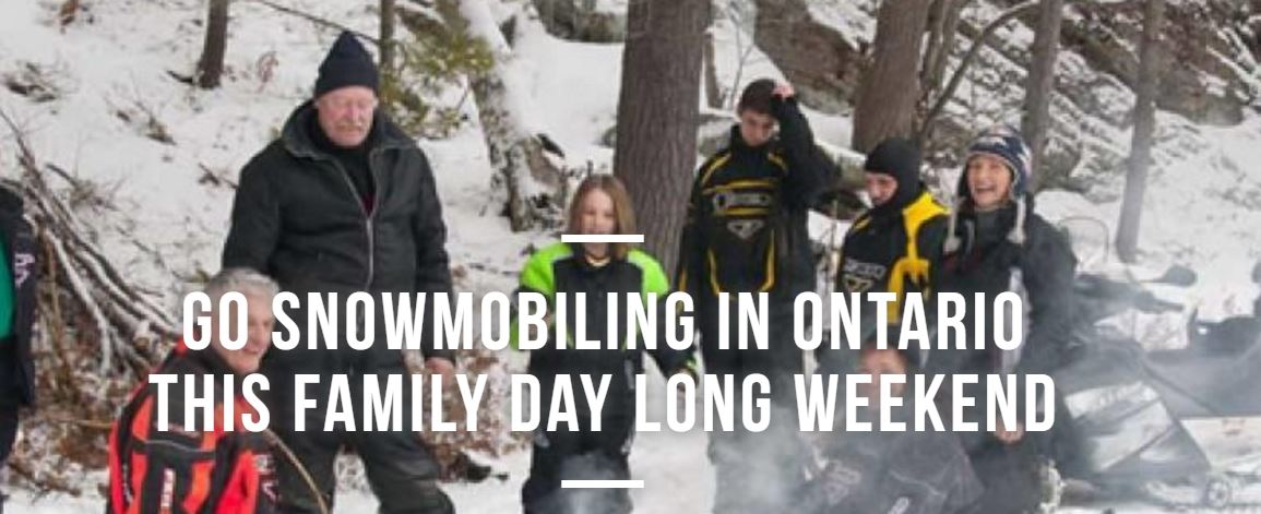 go snowmobiling this family day