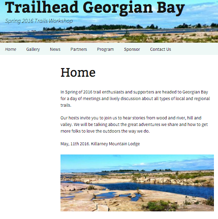 trailhead georgian bay home page