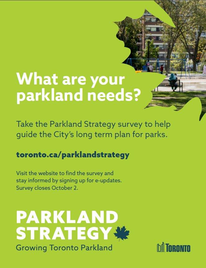 toronto parkland strategy