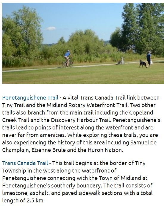 penetanguishene trails