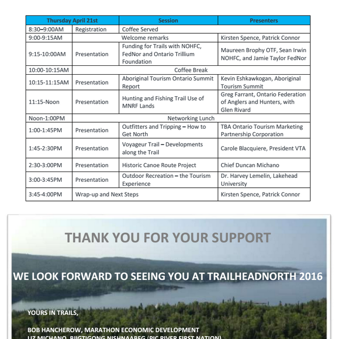 trailhead north 2016