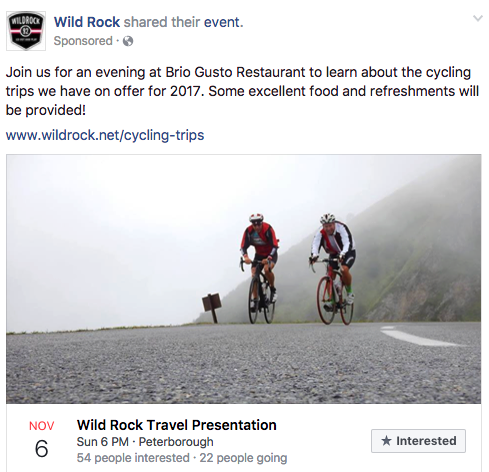 wild rock cycling trip event