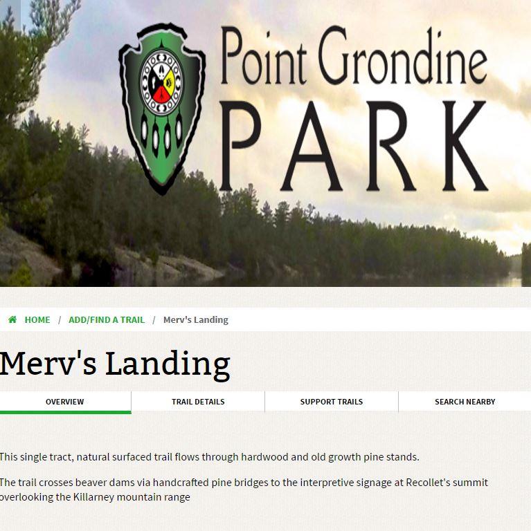 merv's landing trail