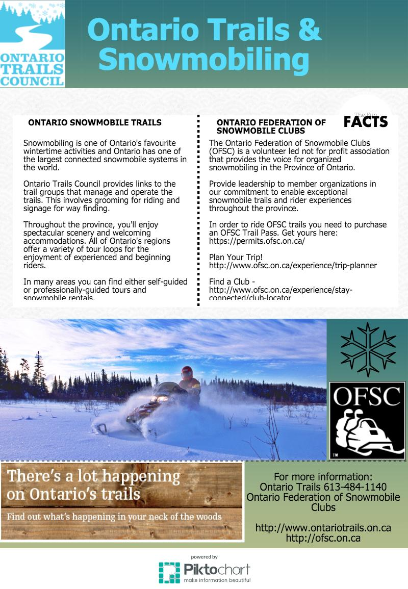 ontario trails ad snowmobiling
