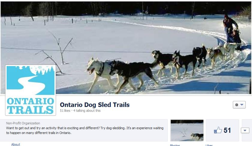 ontario dog sled trails