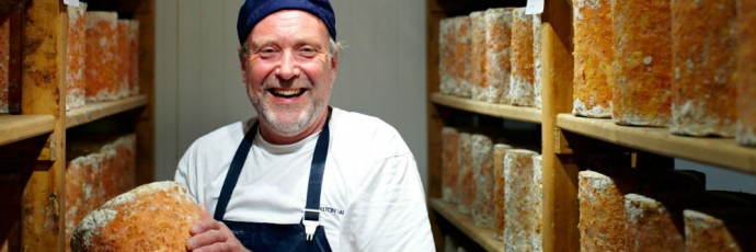 Joe Schneider, Stichelton cheesemaker.