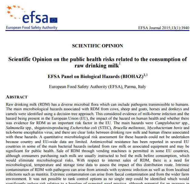 EFSA's Scientific Opinion