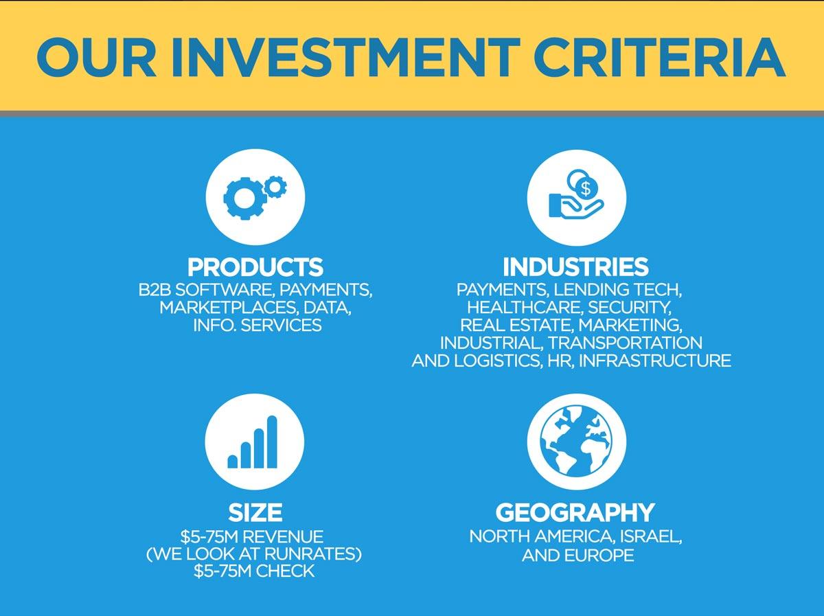 Our Investment Criteria