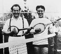 Sergei Eisenstein (links) and Charles Chaplin (rechts)