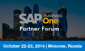 SAP Business One Partner Forum 2014 | October 22 - 23, 2014