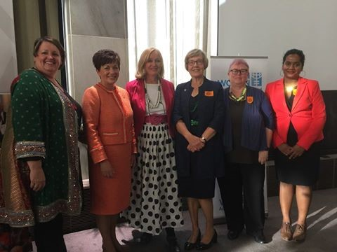 Angela McLeod, Her Excellency the Governor-General Dame Patsy Reddy, Sue Kedgley, Barbara Williams, Deb Moran, Natasha Lewis