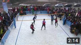Snow Volleyball Night - Press conference