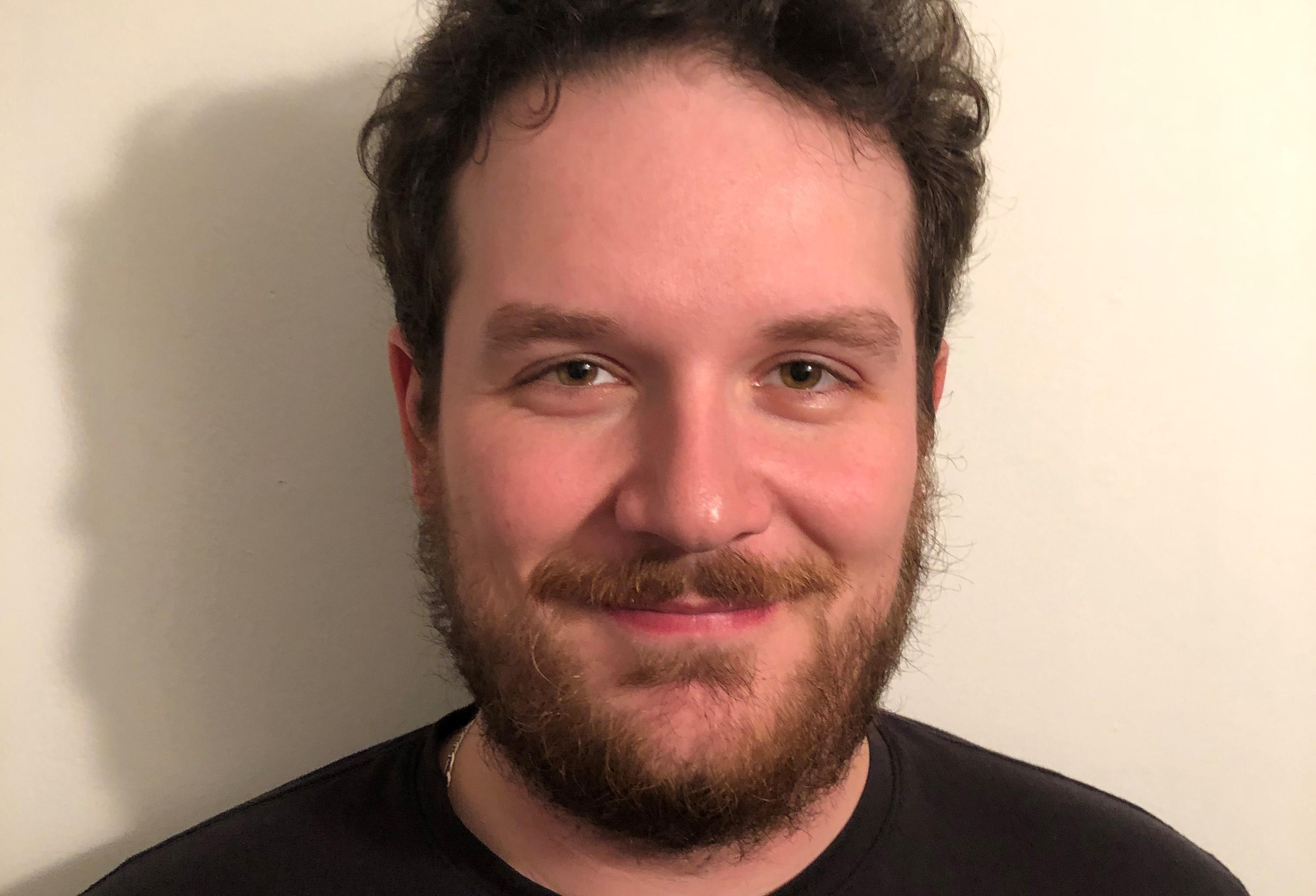 Virgil Légaré smiles proudly