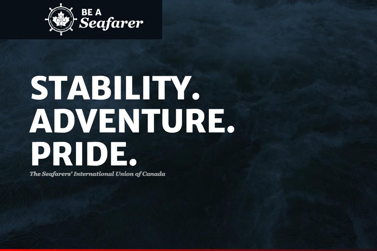 screenshot of the Be a Seafarer website