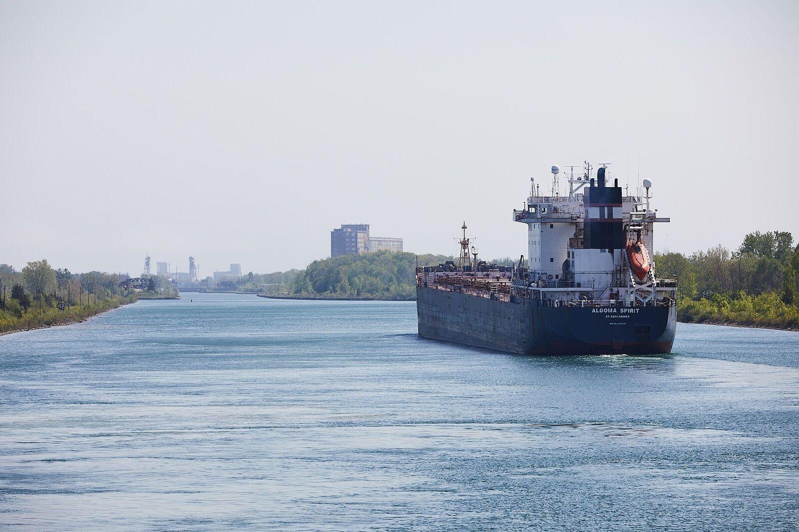 Algoma spirit ship out at sea