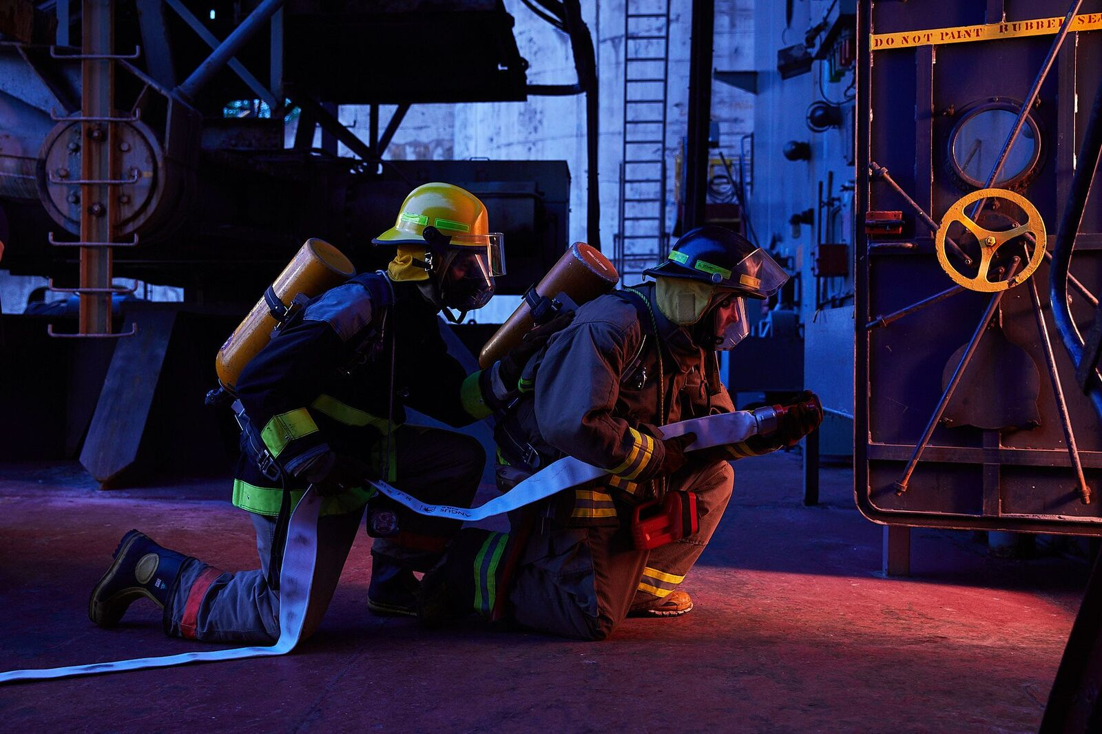 Fire training with new recruits