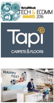 Welcomm Communications shortlisted for Comms Business Awards 2016. Tapi Carpets. Tech and Ecomm Awards 2016.