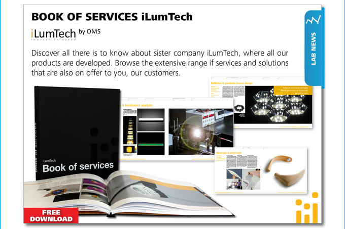 LAB NEWS - iLumTech by OMS, BOOK OF SERVICES. Discover all there is to know about sister company iLumTech.
