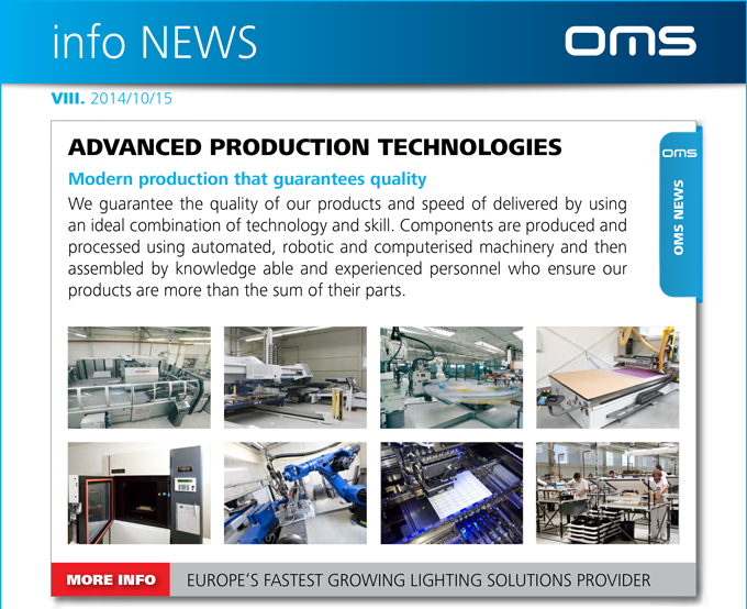 OMS NEWS - SEE OUR ADVANCED PRODUCTION TECHNOLOGIES