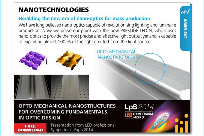 LAB NEWS - NANOTECHNOLOGIES. Heralding the new era of nano-optics for mass production