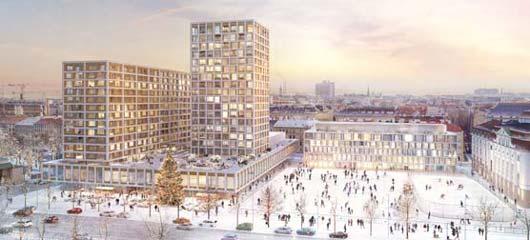 Entwurf: Hotel InterContinental Neu – Winteransicht, Ausschnitt, Isay Weinfeld und Sebastian Murr, Rendering: Nightnurse