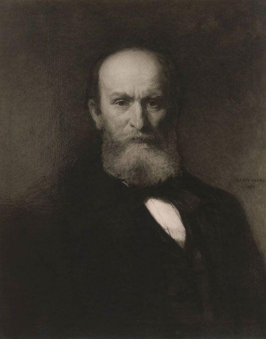 Christian Griepenkerl, Porträt Rudolf von Eitelberger, Wien, 1878; Öl auf Leinwand; © MAK