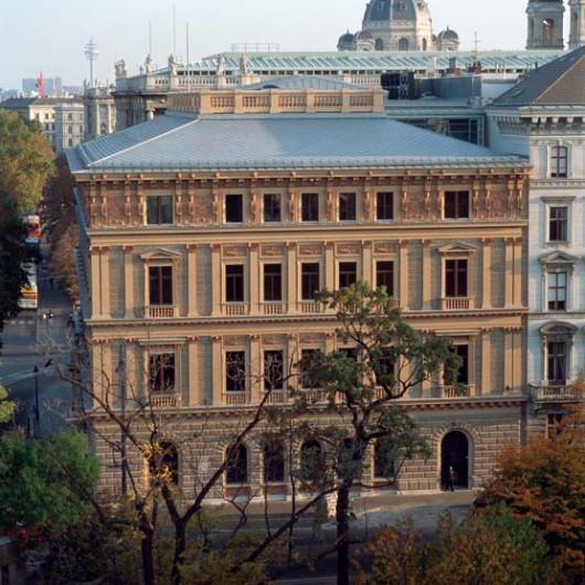 Blick auf das Palais Epstein von der Schmerlingplatzseite © Parlamentsdirektion / Christian Hikade
