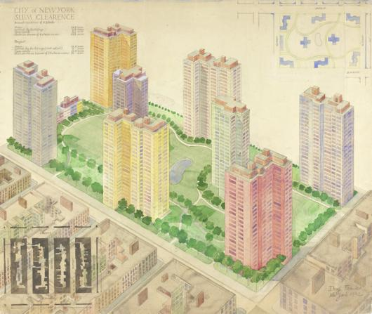 Josef Frank, Slum Clearance, New York 1942