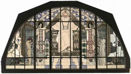 Kolo Moser, Fenster Kirche am Steinhof, 1905/06