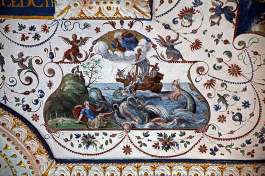 Deckenfresko des protstantischen Betraumes Detail, 1579, (c) Christian Chinna
