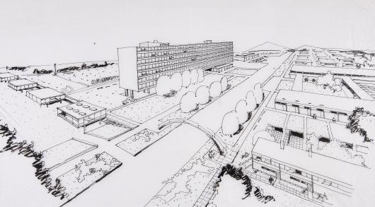 Gustav Peichl: Schaubild EVN-Gebäude
